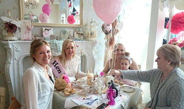 occasions tea room hen party