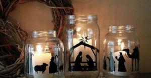 Christmas Scene Candle Jars Occasions